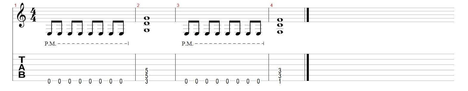 Глушение-струн-на-гитаре